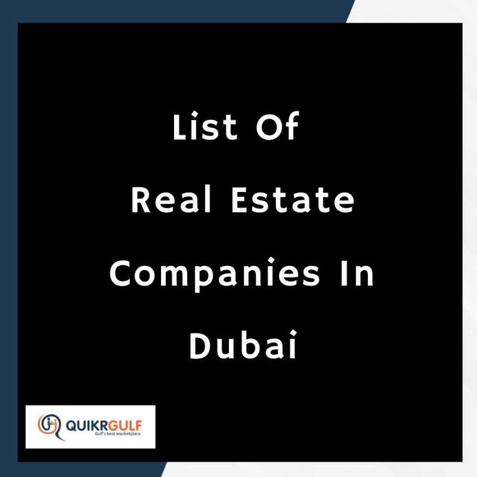 Real estate companies in Dubai